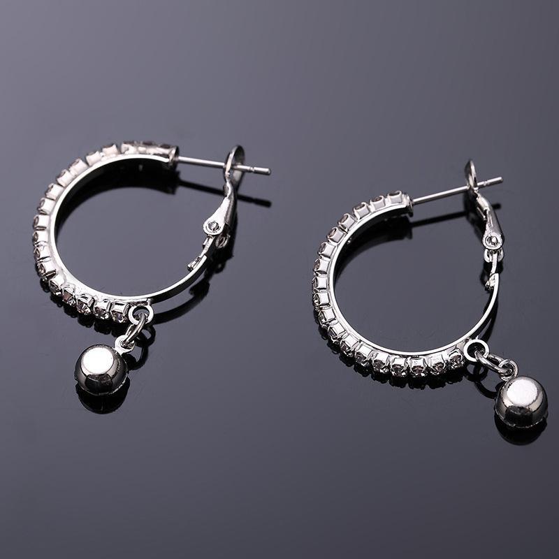 아기 (무료 배송) 호주 크리스탈 실버 도금 후프 귀걸이를 판매하는 2020 패션 쥬얼리 제조 업체 # E166