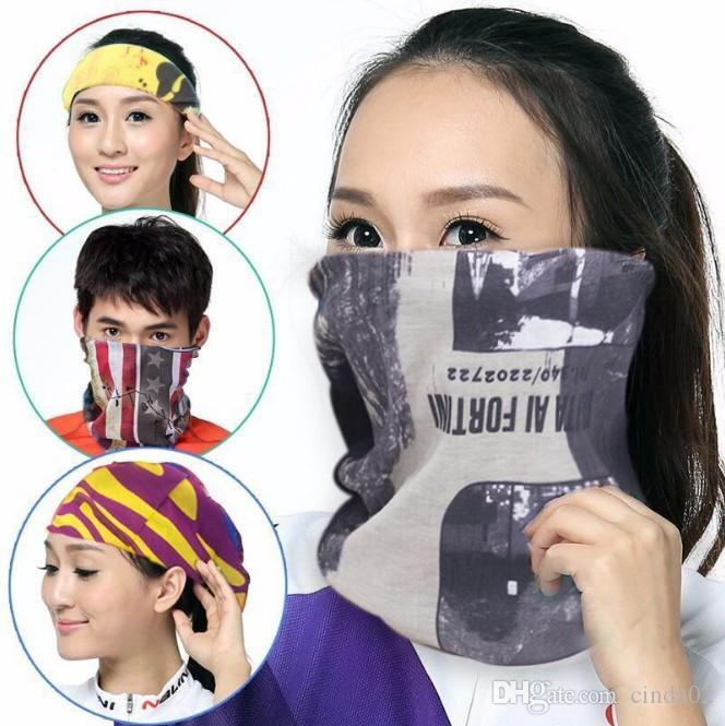 Solid Color Bandana Schlauchschal Kopf Gesichtsmaske Hals Gamasche Kopfbedeckung Snood Beanie Weiß Schwarz-Rosa-Grün