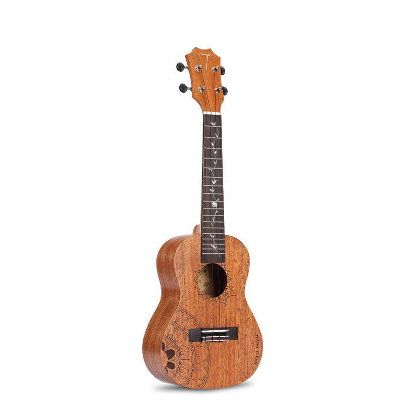 Hot vente TOM guitare ukulélé usine 23 pouces type standard C acajou ukulélé Instruments ficelés avec sac de transport