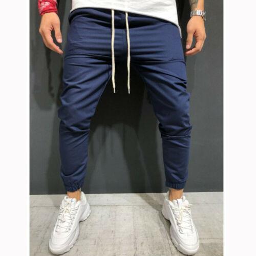 Men Trousers Cargo Sports Jogging Tracksuit Slim Elastic Waist Sweatpants Pants