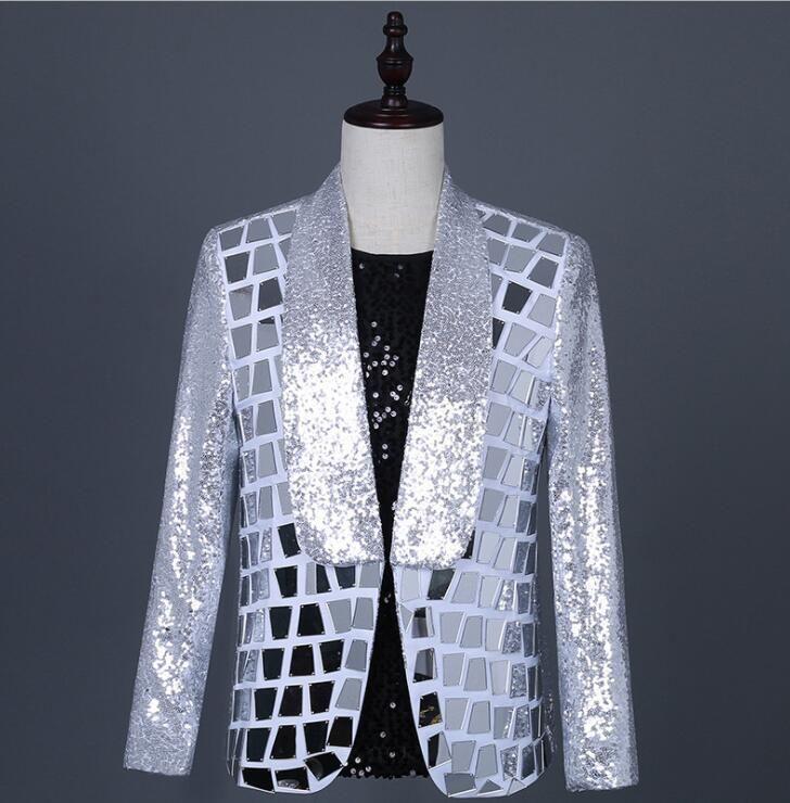 singers lattice sequins blazer men suits jacket mens stage costumes clothes dance star style dress punk rock masculino homme