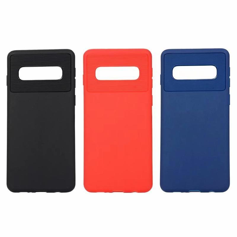 Luxe souple en TPU pour Samsung Galaxy S10 Plus Lite J4 de base pour les cas Huawei P30 Pro Silicone Rubber Fashion Cell Phone Cover peau