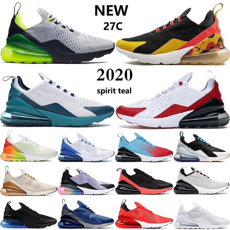 New 270s mens running shoes spirit Seattle Away teal Bred white university red Oil Grey men women trainers sneakers US 5.5-11
