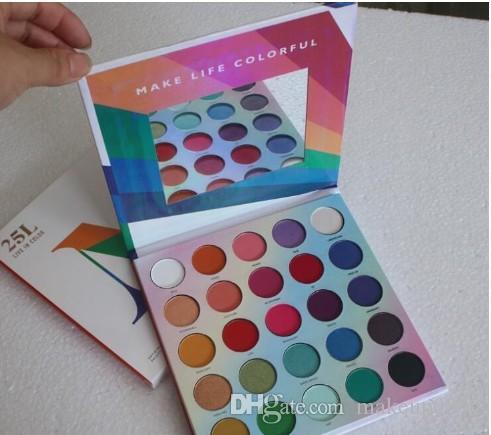 Pressed Powder Lidschatten-Palette Make-up 25L Live In Farbe Matt Lidschatten-Paletten Make Life Colorful 25 Farben Mattschimmer Lidschatten