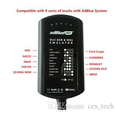 2019 AdBlue Emulator System Box 9 IN 1 For M-A-N/MB/for IVECOD-AF/for VOLVO//AdBlue 9in1 SCR&NOX A+Version Full Chip