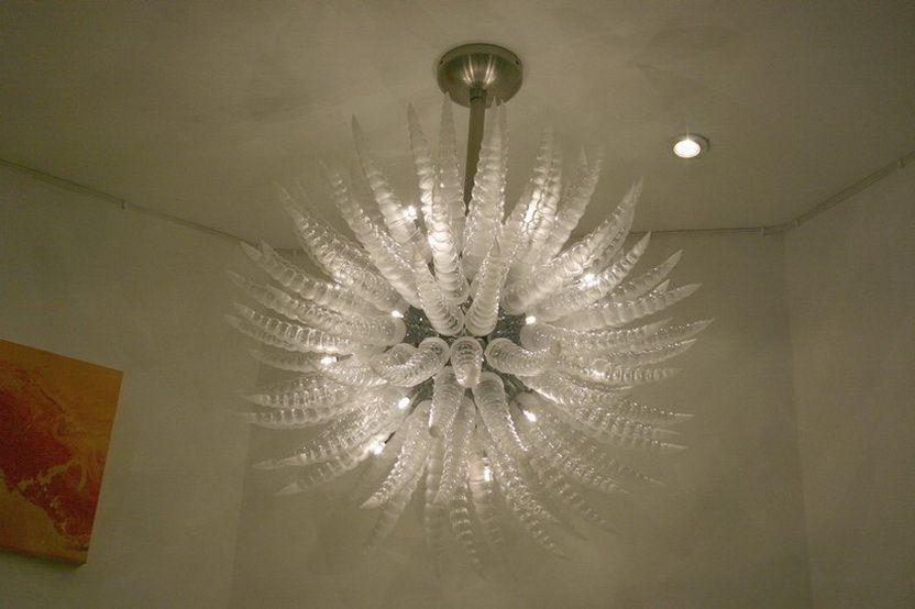 Best Selling candelabro elegante para o luxo mão Decoração Luz de fixação LED Chihuly Estilo de alta qualidade vidro fundido Cristal
