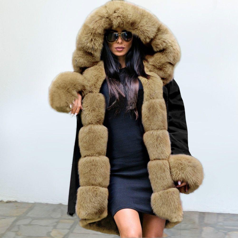 Coat Bayan Moda Peluş Kürk Yaka Sıcak Palto Tasarımcı Casual Kamuflaj Kalın Kadın Kabanlar Aşağı 17 Stiller Beden S-2XL 2020 Yeni