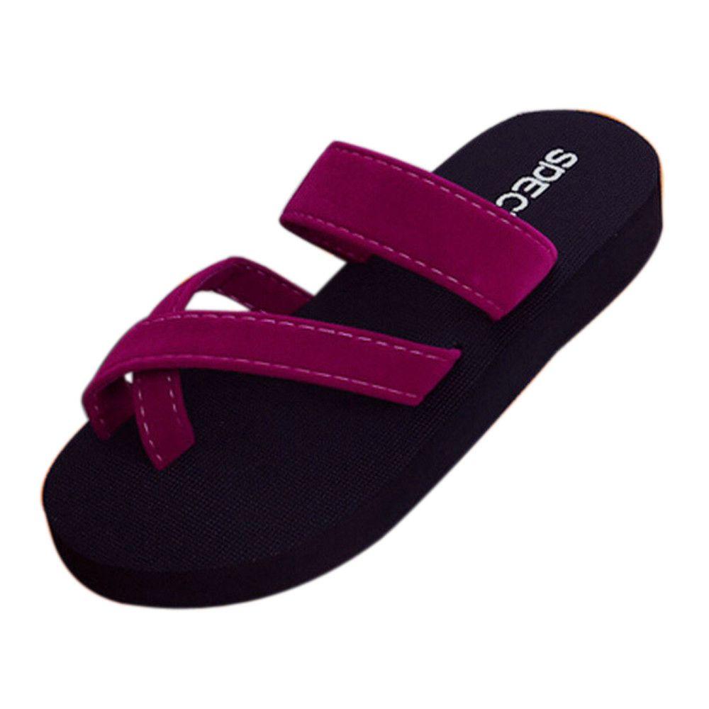 SAGACE été flip flop Femmes Casual été Chaussons femmes sandales plates pour les filles Beach Ouvert Open Toe Shoes Femme 2019