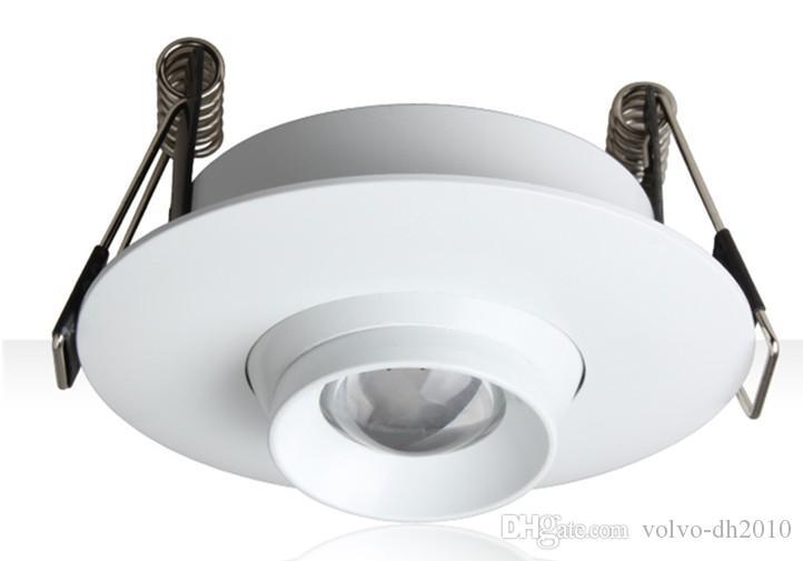 100-240 В перем. Тока 3 Вт Встроенный светодиодный прожектор, встроенный в масштабируемый потолочный светильник на 10–60 градусов, мини светодиодный прожектор LLFA
