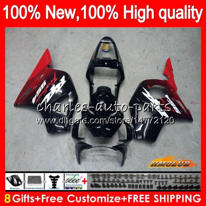 Cuerpo para HONDA CBR900RR CBR 954 RR 900 CC nuevo negro rojo CBR900 RR CBR954 02 03 77HC.44 900cc CBR 900RR 954RR CBR954RR 2002 2003 Kit carenado