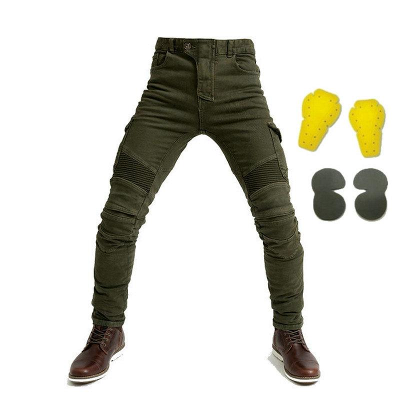 Las ventas calientes de calidad del hight pantalones de montar motocicleta protectora negro ocio pantalones sueltos recta motorbikers diaria ciclismo pantalones casuales