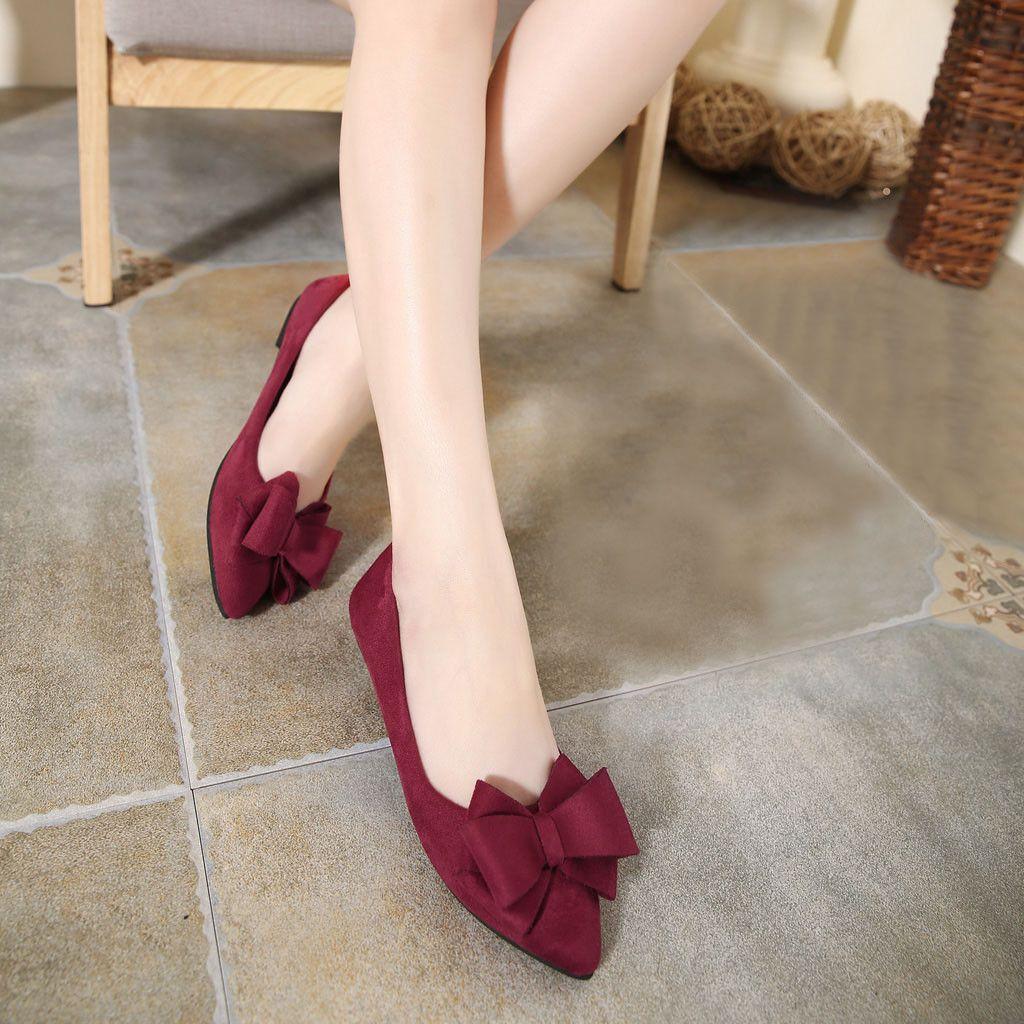 Scarpe da donna scarpe Casual Flat Flats Shoes Summer Women Bow 2019 Mocassini Punta appuntita LFMMT