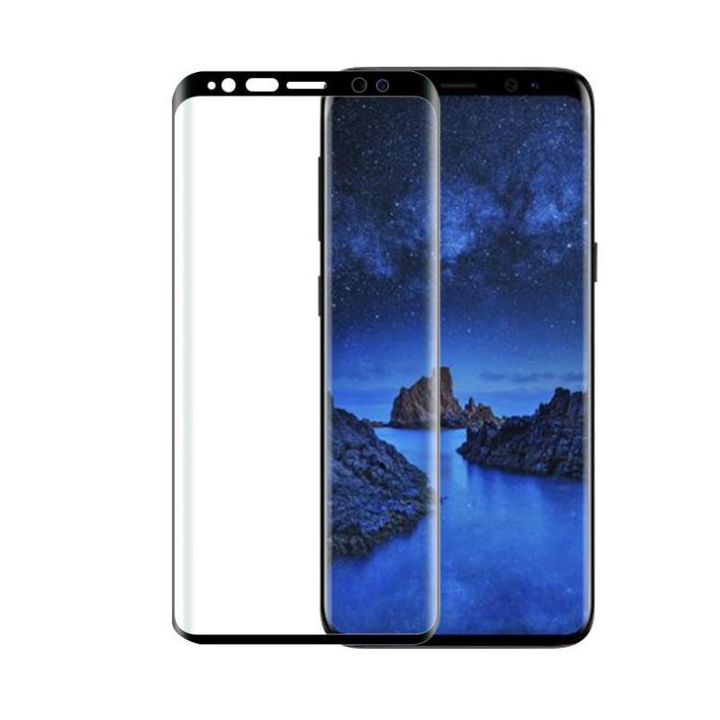 لسامسونج غالاكسي S9 زائد حامي شاشة فائقة القضية واضحة وقوية التصاق 9H صلابة 3D منحني زجاج المقسى لS9 زائد