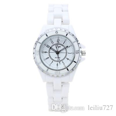 Simple Student Classic Female Quartz Watch Ceramic Watch New Trend Fashion White Diamond Waterproof Ladies Watch Gift Decoration Wild