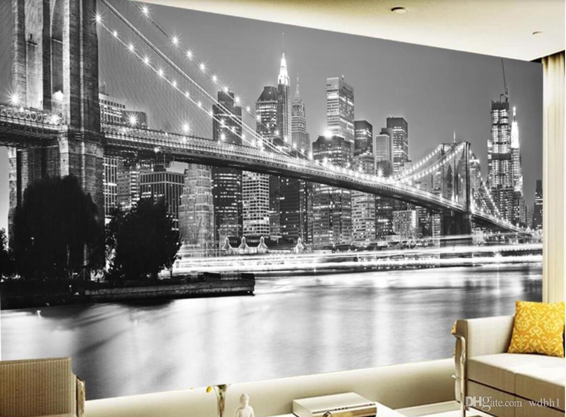 3d Room Wallpaper Custom Photo Mural Retro Black And White