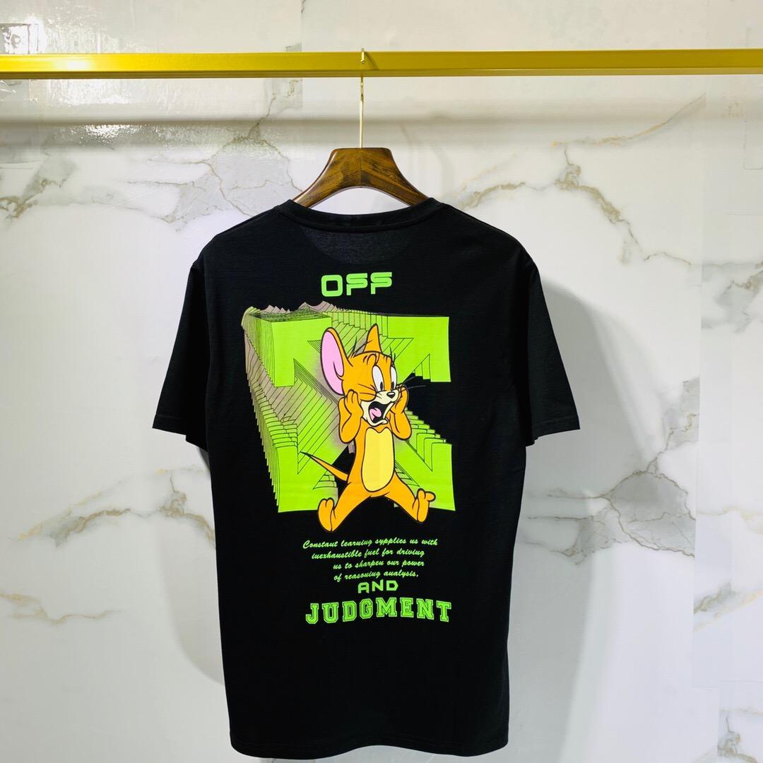 Moda para hombre de alta calidad a corto camiseta de algodón tendencia calle camisa para hombre de la pintada camisetas de tinta arrow imprimir par de camisetas sueltas de alta calidad