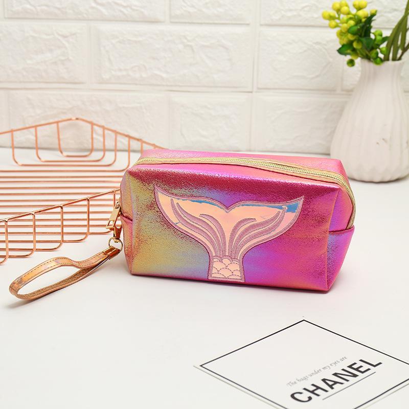 Dropshipping Maquillaje Bolsa Mujeres sirena de cola por mayor compone la bolsa de bolsas de cosméticos Organizar alta calidad barata Organizador señora