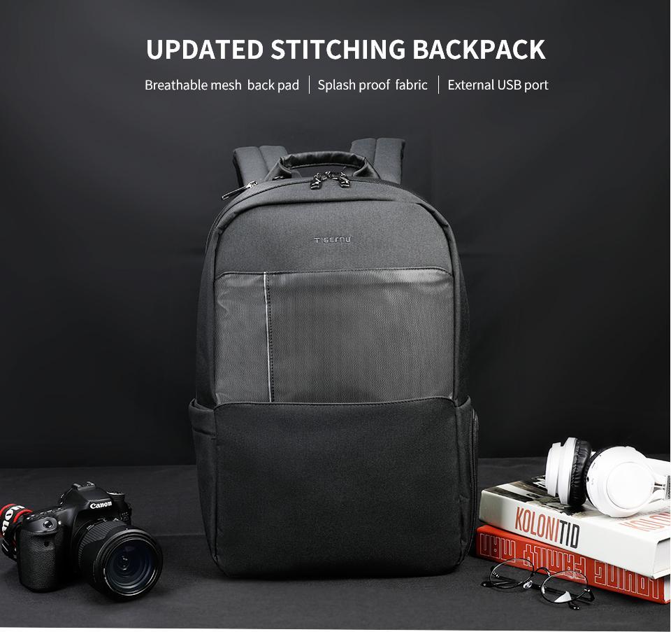 erkek kadınlar için gençler erkekler için Tigernu Marka 15.6 dizüstü sırt çantası erkekler okul çantası sırt çantaları hırsızlığa karşı günlük seyahat sırt çantası