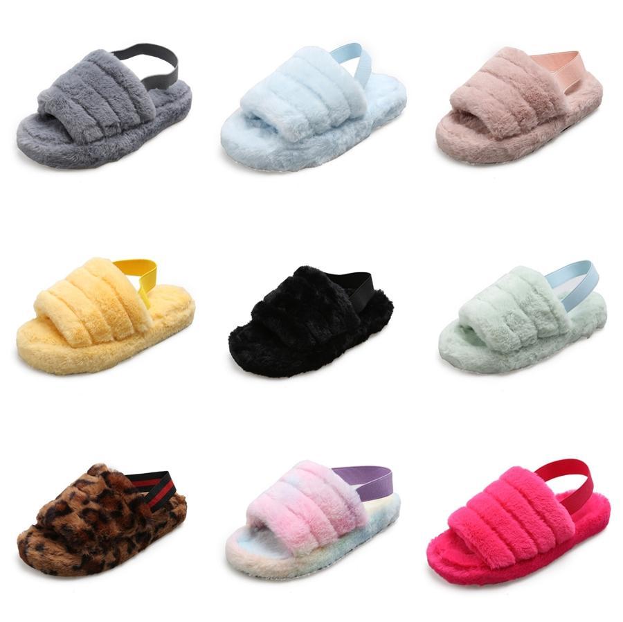 Europäische und amerikanische-Stil Sexy Party Slippers Frauen Sommer 2020 Peep-Toe High Heels Mode Wort-Schnalle Chunky-Heel Hausschuhe Größe 43 # 590