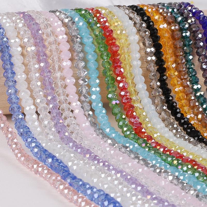والزجاج والكريستال فضفاض الخرز AB متعدد الألوان Sapcer الخرز الزجاجي 2mm في حوالي 195bead لصنع المجوهرات DIY اليدوية لسوار اكسسوارات سوار