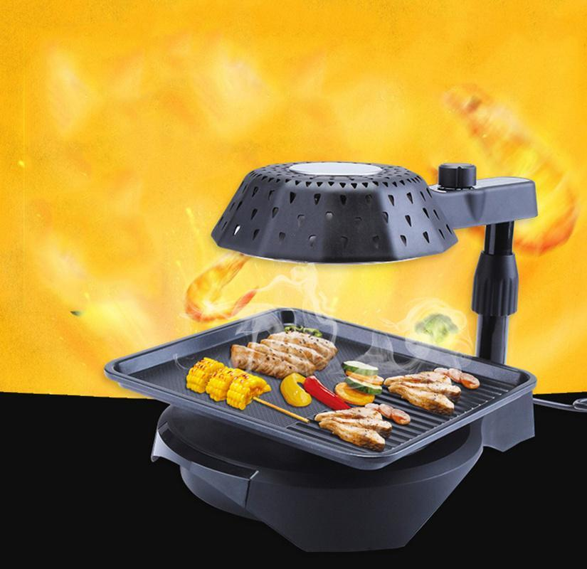 Far Infrared Electric Grill Baking Tray Korean Commercial Indoor Home Smokeless Home Rotating Barbecue Machine