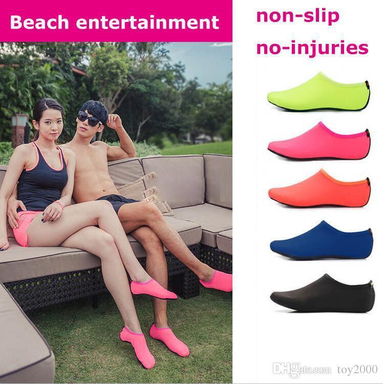 Пляж Водные виды спорта подводное плавание носки 5 цветов плавание подводное плавание нескользящая пляжная обувь дышащий серфинг носки песок играть 41654