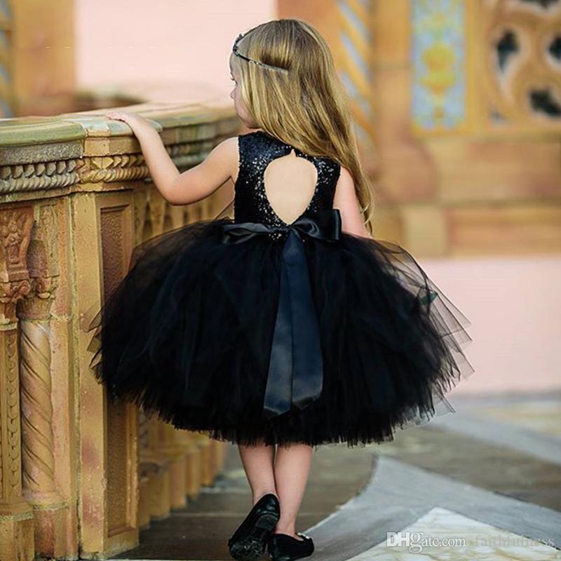 Vestidos de niñas Niños de verano Princesa Vestimenta O Cuello Bola vestido Ropa para niños Abierto Back Tronco Niña Traje