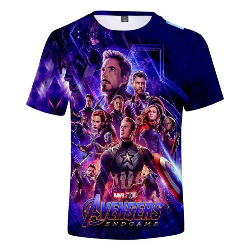 2019 T-shirt 3D Neweset Endgame Hommes / femmes T-shirt de jeu Ironman End Custom TShirt Homme Femme
