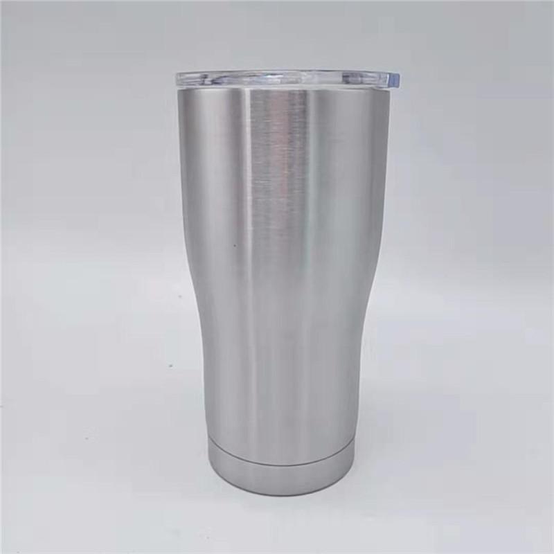저렴한! 커피 맥주에 대한 뚜껑 20온스 곡선 텀블러 현대 커브 컵 곡선 물 머그잔 더블 레이어 스테인레스 스틸 진공 병