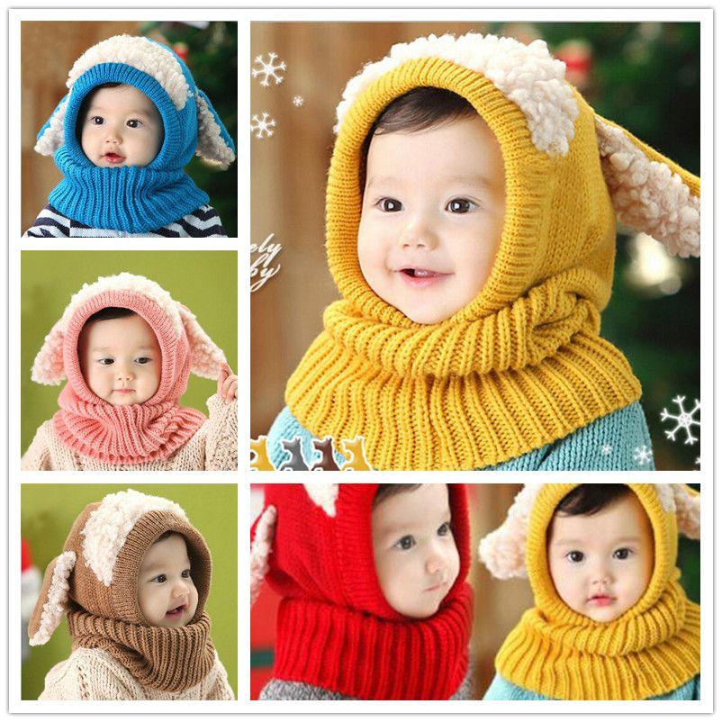Baby Winter Crochet Hats Cap Girls Kids Cute Handmade knit Crochet Warm Hats mk0919