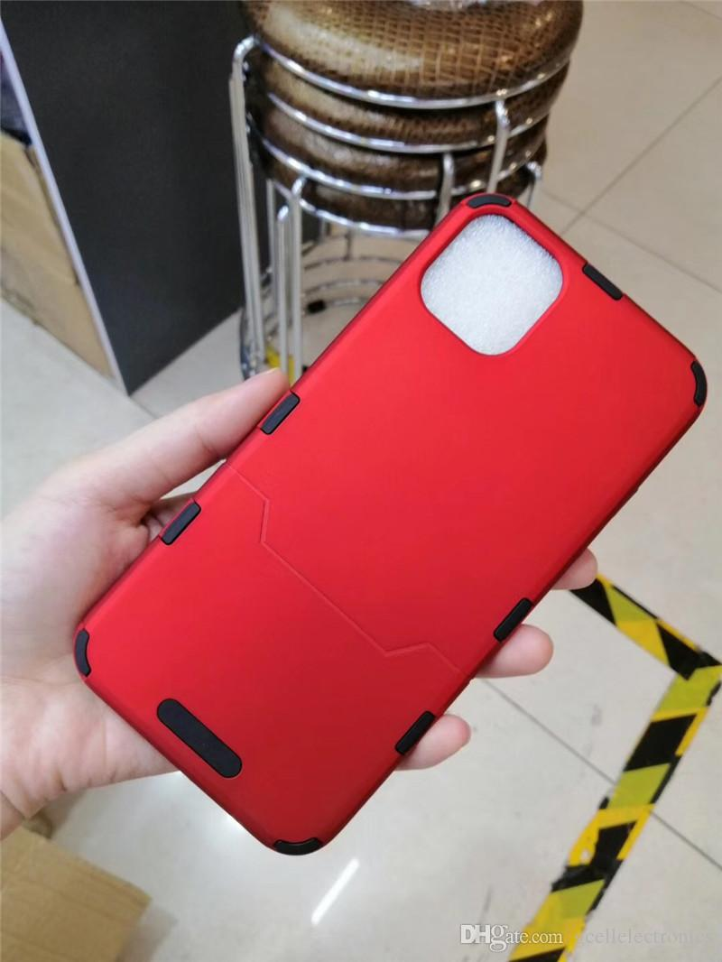 Slim hybrid Armor Cell Phone Cases For Iphone 11 Pro Max Samsung Galaxy S20 Plus A30 A50 Dual Layer Heavy Duty Mobile Covers
