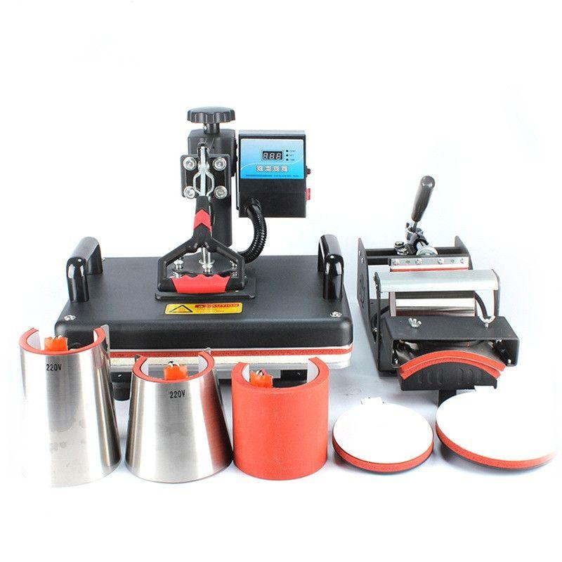 حار بيع 8 في 1 كومبو الحرارة الصحافة آلة أكواب كأس تي شيرت آلة الطباعة تي شيرت آلة التسامي