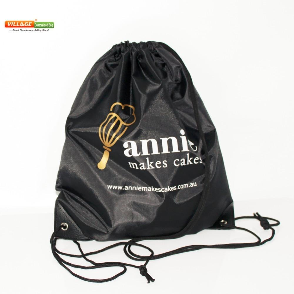 100pcs/lots Custom Drawstring Bags With Printing Logo String Backpack For Girls High-quality Y19061301