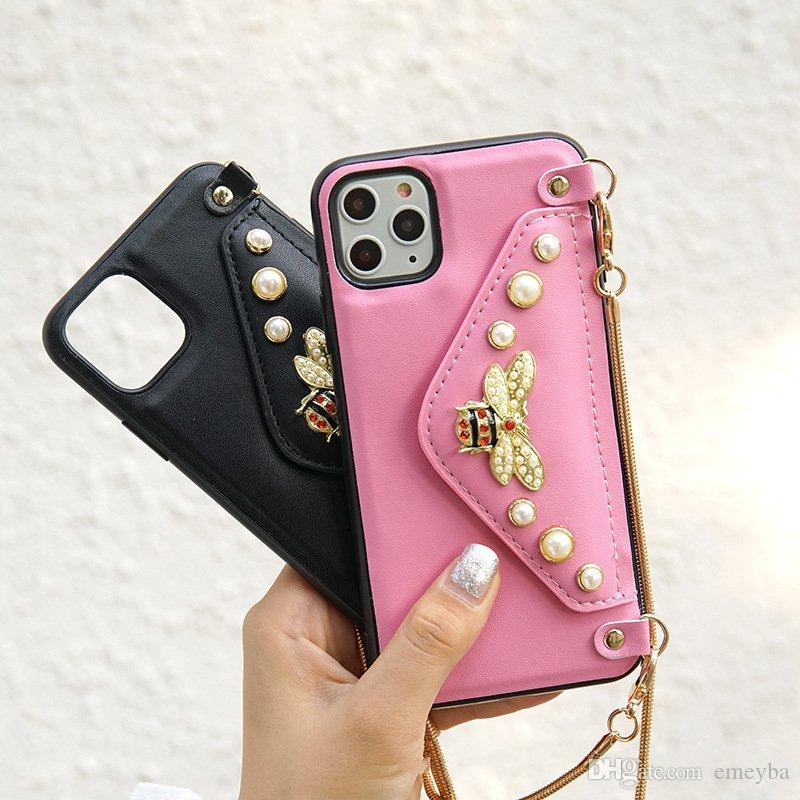 مصمم فاخر جدا حقيبة محفظة قلادة الهاتف ل iPhone 11 Pro XS ماكس XR 786S بالإضافة إلى Lanyards غطاء حزام الرقبة