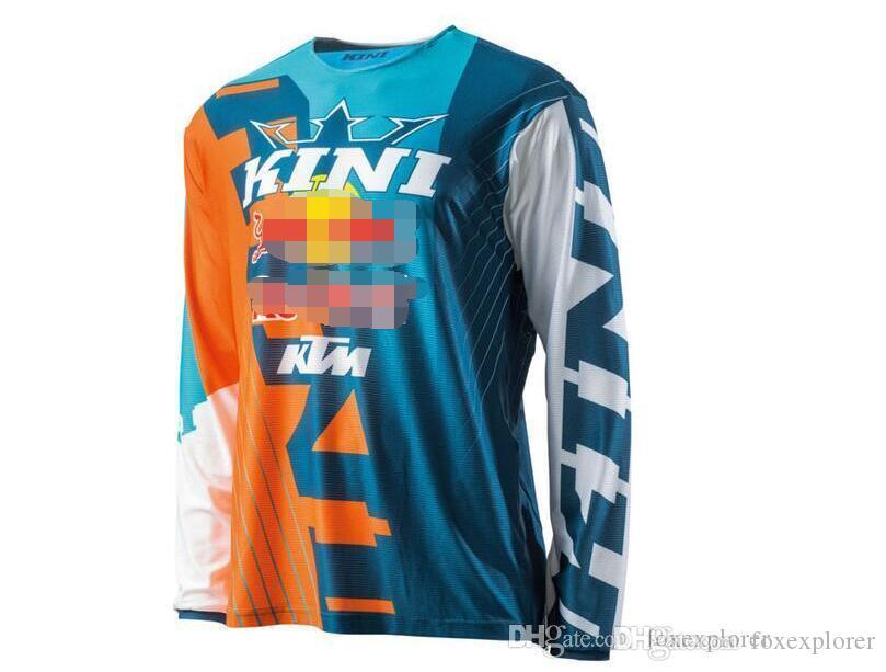 KTM الإنحدار تي شيرت ركوب الدراجات جيرسي كم طويل في الهواء الطلق دراجة جبلية دراجة التجفيف السريع الأعلى على الطرق الوعرة الدراجات النارية الملابس