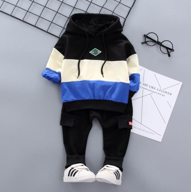 2 pc Criança Bebê Meninos Roupas T Shirt + Calças Crianças Sportswear Roupas Crianças roupas de roupas de outono 1-4Years TR01