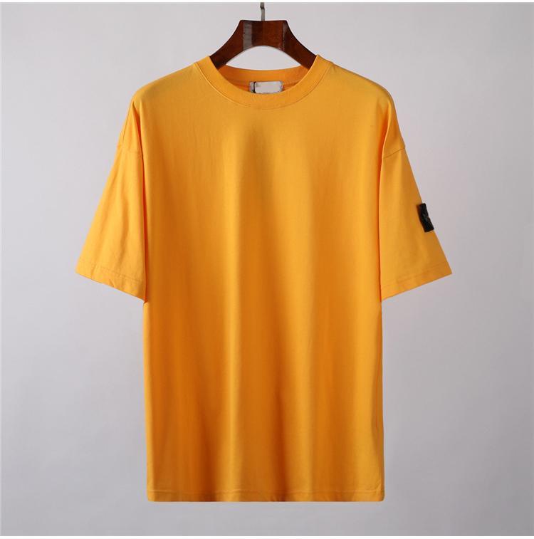 CP COMPANY topstoney PIRATA konng gonng Nuovo distintivo estate del manicotto del bicchierino di modo allentato casuale semplice t-shirt di base