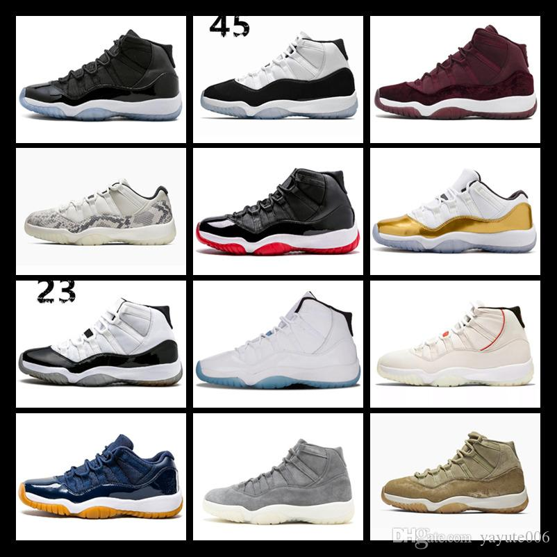 Designer Concord 11 basketball shoes 11s with keychain mens Cherry Heirress Black stingray Olive Lux Legend Blue UNC Georgetown trainers