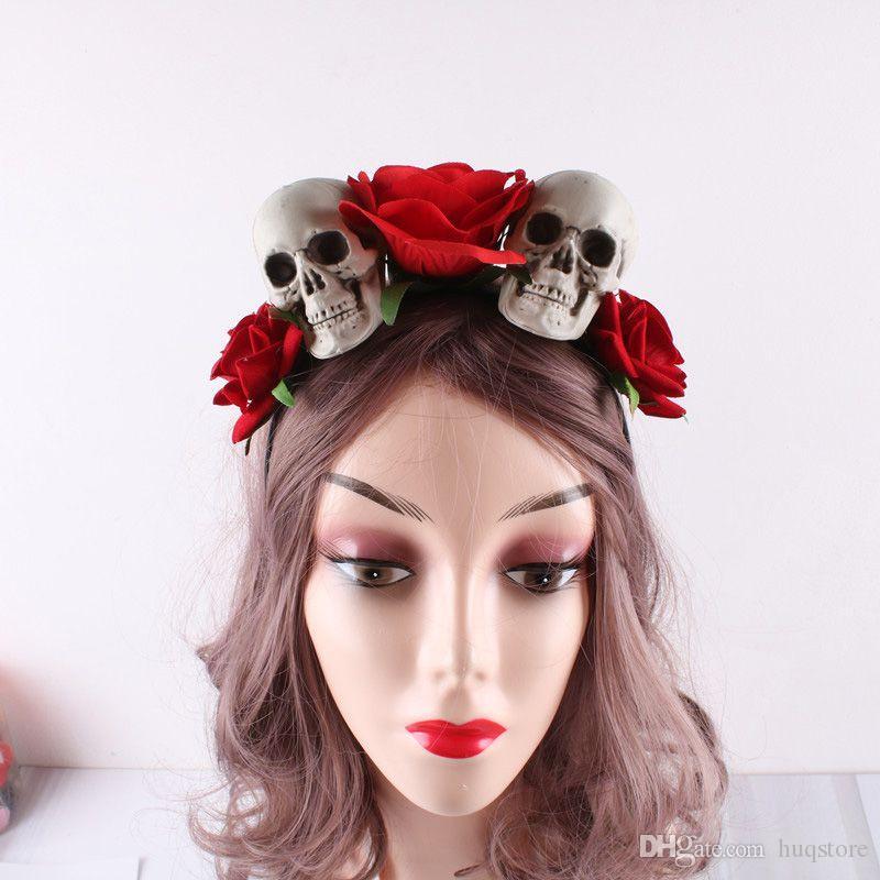 Новый Хэллоуин оголовье Таро Хэллоуин оголовье High Simulation Rose Призрачный Фестиваль Masquerade Аксессуары розы Аксессуары для волос