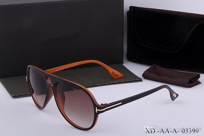 أعلى جودة qualtiy جديد موضة 0392 0394 توم نظارات للرجل امرأة إريكا نظارات فورد مصمم ماركة نظارات الشمس مع المربع الأصلي 0339