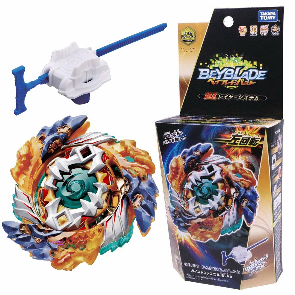 Original TOMY Beyblade Burst B-122 GEIST FAFNIR. 8 Ab Bayblade be blade top spinner Toy for ChildrenMX190926