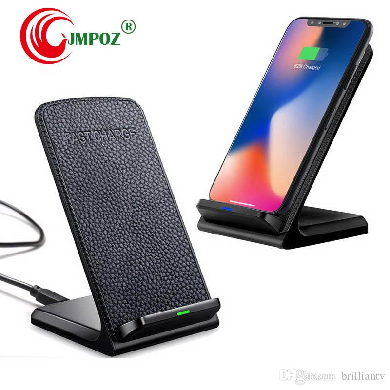 QI Wireless Charger Fast Charging for iPhone 8 10 X Samsung Galaxy S6 S7 S8 3-Coils Stand Pad 5V 2A & 9V 1.67A Charge
