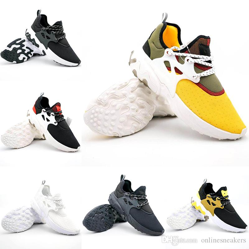 where to buy outlet store cute 2019 2019 Air Presto React Running Shoes Men Women Triple Black White Oreo  Gold Yellow New Casual Designer Trainer Sport Sneaker Size 5.5 11 From ...