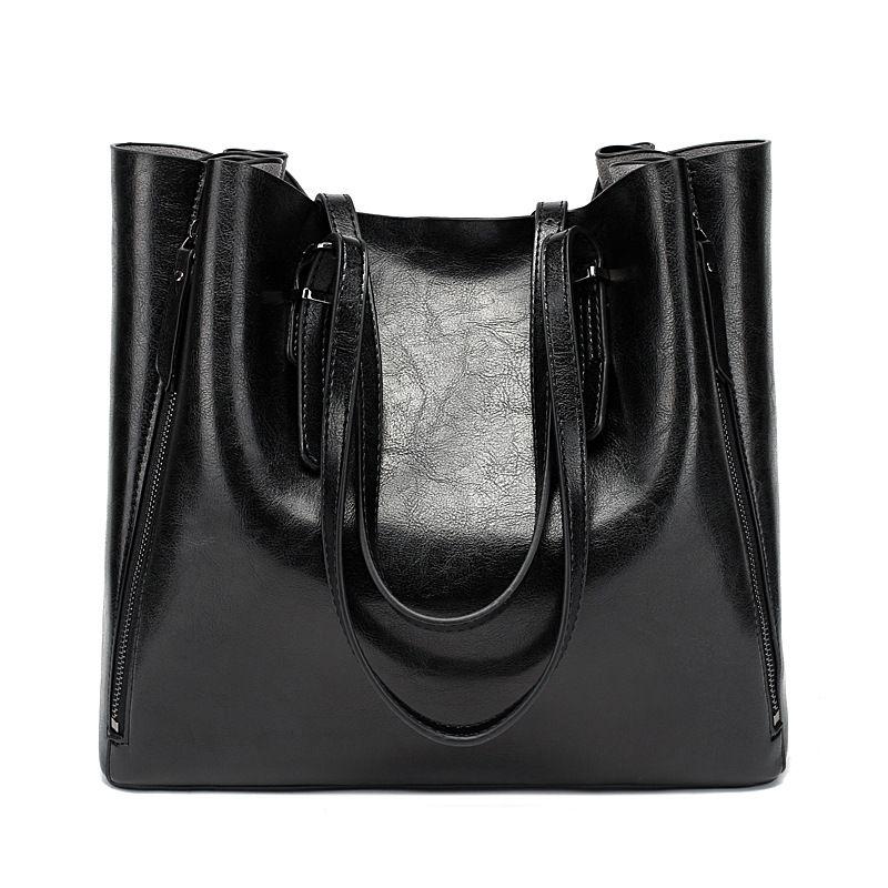 New European and American style design handbag handbag fashion ladies bag PU leather handbag shoulder bag Messenger bag