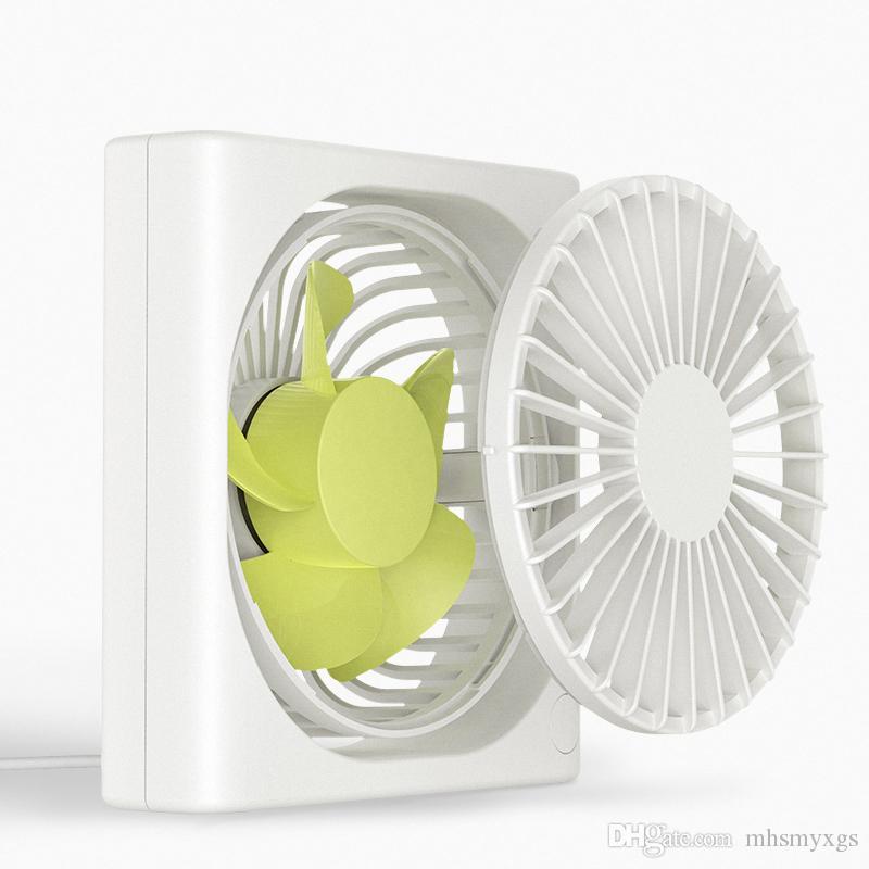 360/° Adjustable Fan USB Desk Fan Portable Small Fan Color : White USB Rechargeable Portable Light Body
