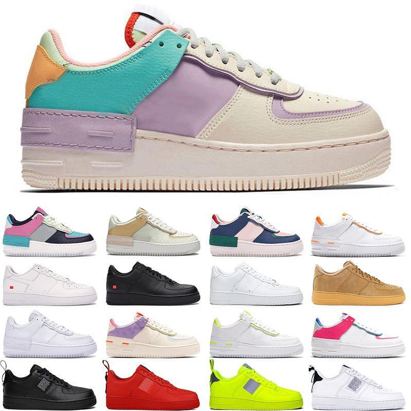 Nike Air Force 1 Мужчины Женщины Дизайнер Повседневные Кроссовки Обувь для Скейтборда Sup Черный Белый Утилита Лен High Cut Высокое качество Мужская Тренер Спортивная обувь 36-45