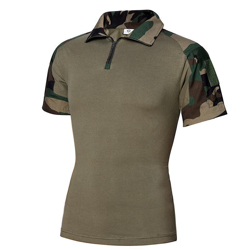 Para hombre del camuflaje del verano Tactical Paintball táctico camisas de los nuevos machos camisas manga corta de algodón T Shirts Caza Ropa
