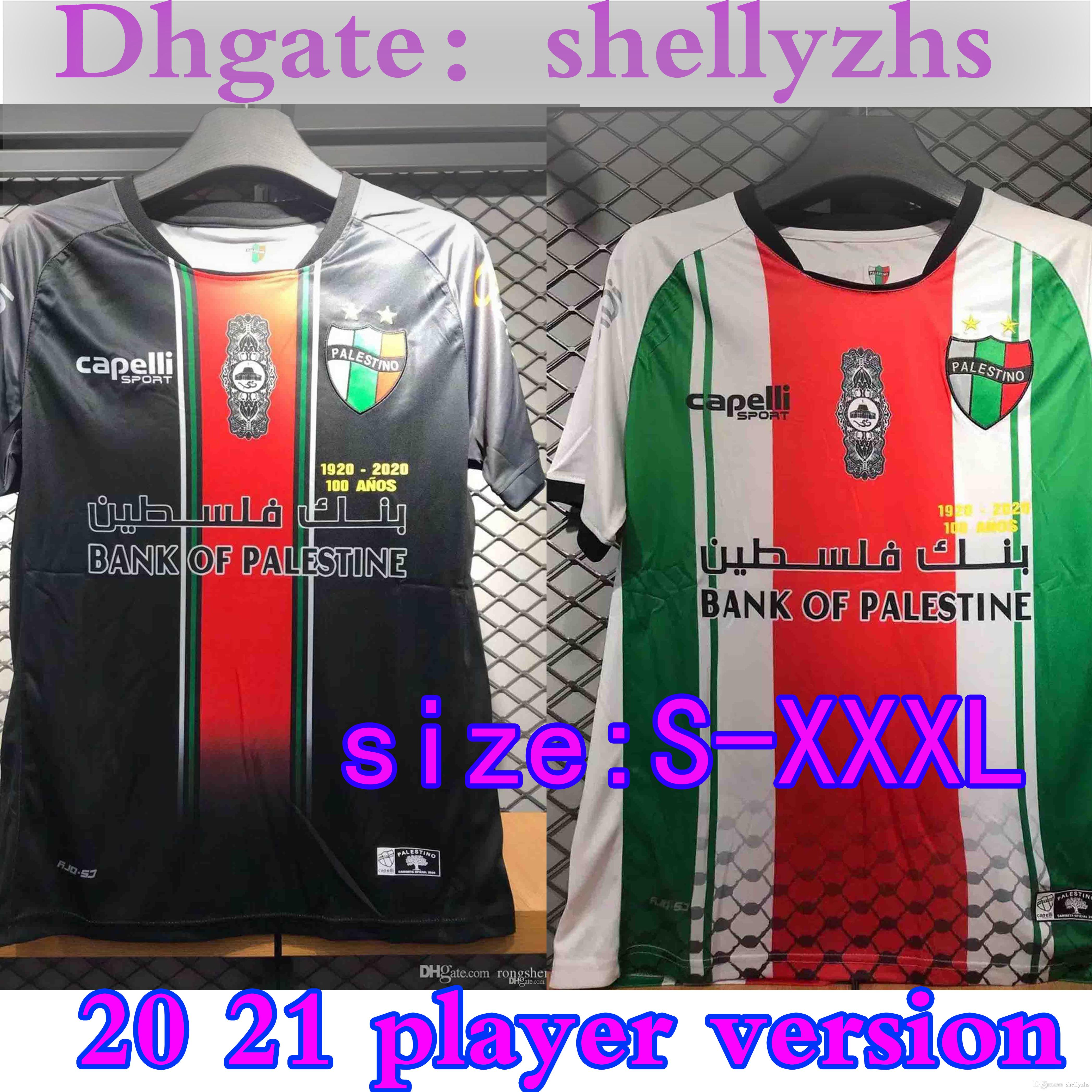 Taille: S-3XL 2020 2021 CD Palestino Football Maillots Chili Palestino CUTIERREZ CAMPOS Rosende maison ORRES loin 3 20 21 hommes chemise de football