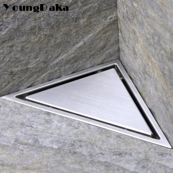 2020 Sus 304 Stainless Steel Hidden Type Triangle Floor Drain