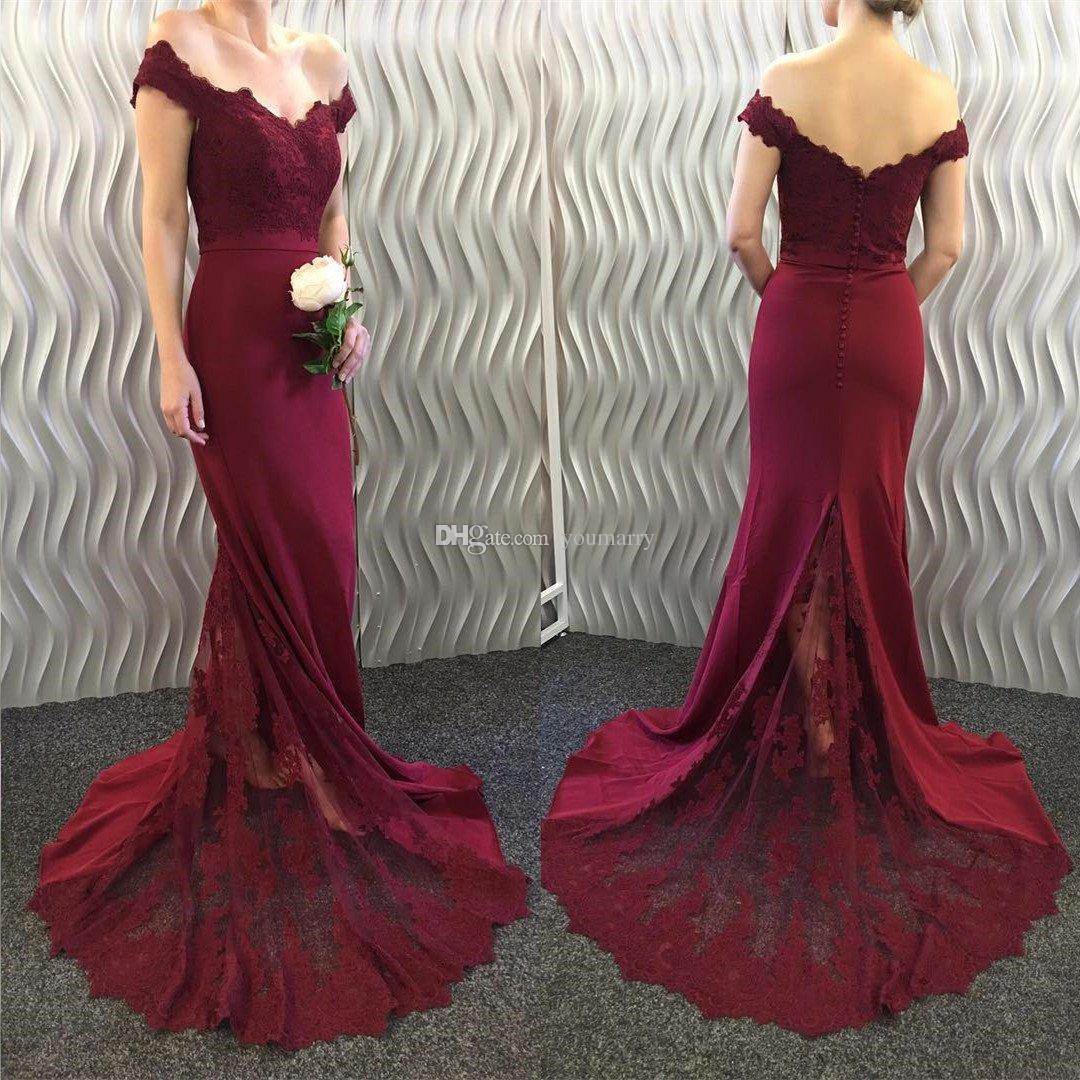 New Burgundy Bridesmaid Dresses 2019 A Line Sleeveless Floor Length Mixed Styles Wedding Party Dresses Cheap Summer Boho Maid of Honor Gown